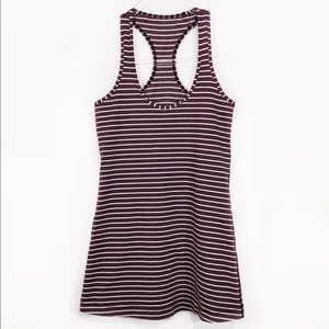 LULULEMON | cool racerback maroon stripe tank top